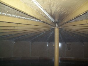Interior Roof of A water storage tank