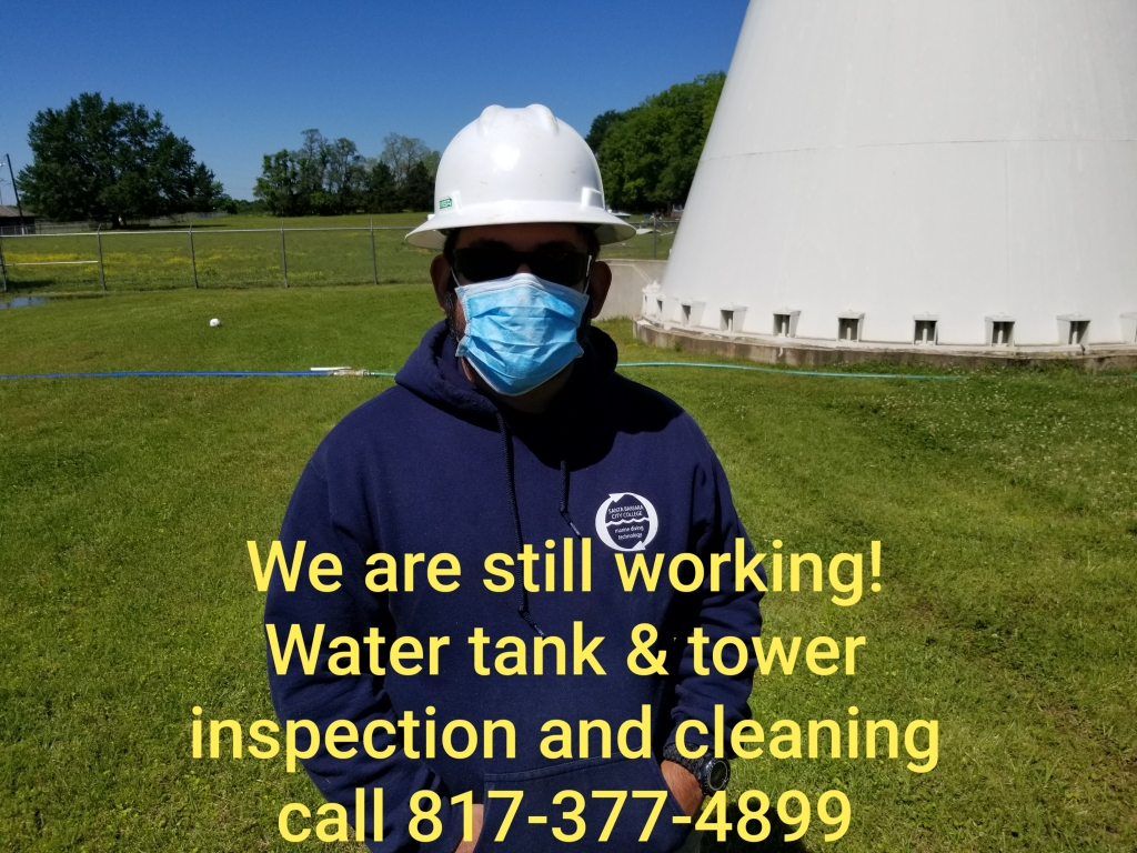 Water tank & tower inspection and cleaning